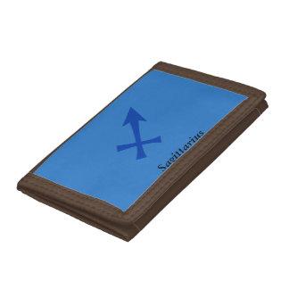 Sagittarius symbol trifold wallet