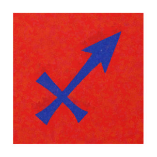 Sagittarius symbol wood print