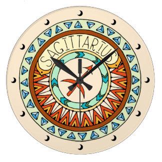 Sagittarius the Archer Large Clock