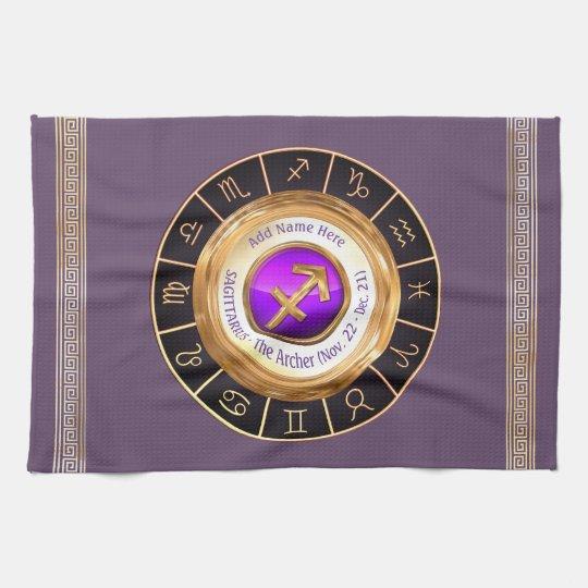 Sagittarius - The Archer Zodiac Sign Kitchen Towel