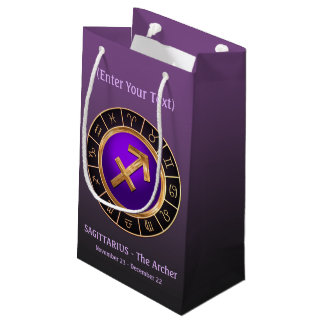 Sagittarius - The Archer's Horoscope Symbol Small Gift Bag