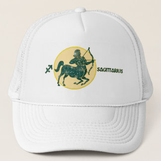 Sagittarius Turquoise Designer Modern Trucker Hat