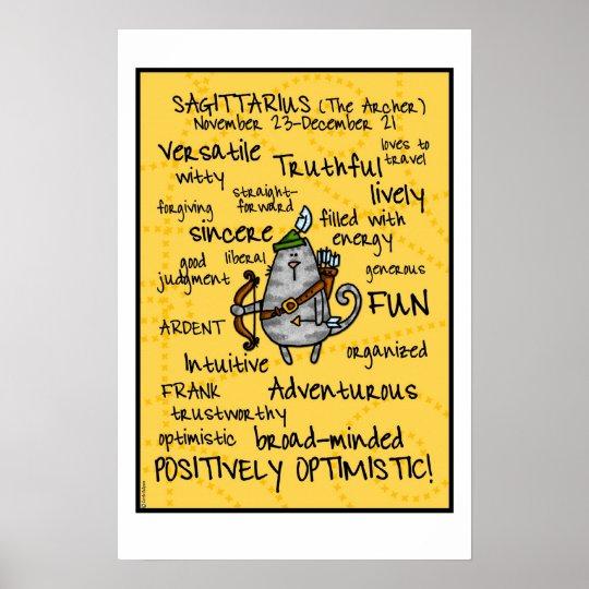 sagittarius wordcloud poster