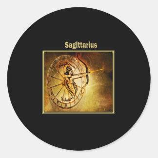 Sagittarius  Zodiac Astrology design Horoscope Classic Round Sticker