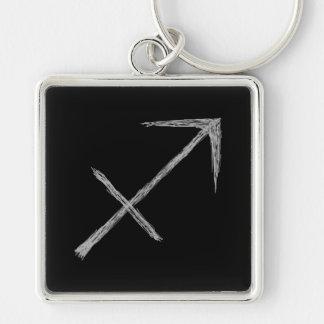 Sagittarius Zodiac Astrology Sign Black Key Chains