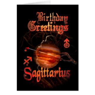 Sagittarius Zodiac Birthday Greetings by Valxart Card