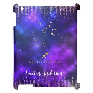 Sagittarius Zodiac Custom Name iPad Case