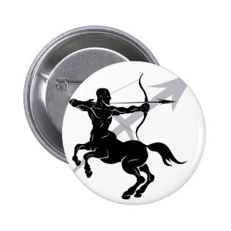 Sagittarius zodiac horoscope astrology sign 2 inch round button