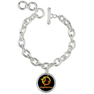 Sagittarius zodiac sign charm bracelet