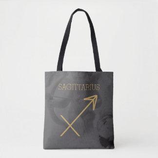 Sagittarius Zodiac Sign | Custom Background + Text Tote Bag