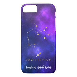 Sagittarius Zodiac Sign Custom Name IPhone Case