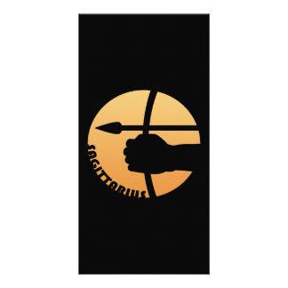 Sagittarius Zodiac Sign Customized Photo Card