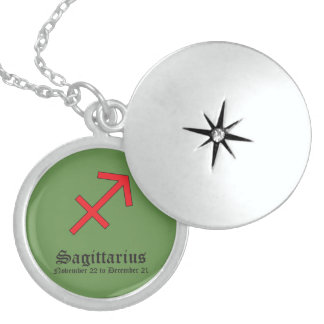 Sagittarius zodiac sign sterling silver necklace