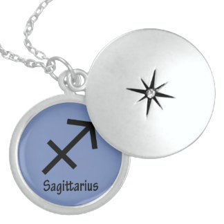 Sagittarius zodiac sign sterling silver necklace