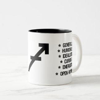 "Sagittarius Zodiac Sign (""the archer"") Two-Tone Coffee Mug"