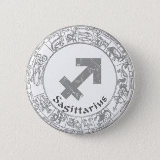 Sagittarius Zodiac sign vintage 2 Inch Round Button