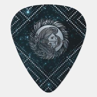 Sagittarius Zodiac Silver Embossed on the Star sky Guitar Pick