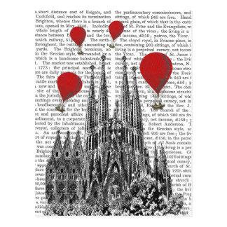 Sagrada Familia and Red Hot Air Balloons Postcard