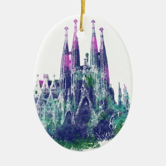 Sagrada Familia Barcelona Ceramic Ornament
