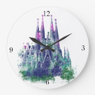 Sagrada Familia Barcelona Large Clock