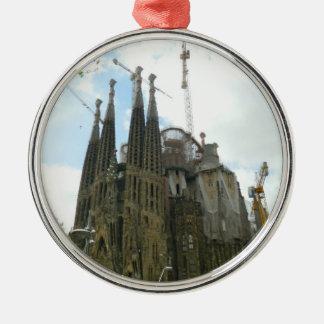 Sagrada Familia, Barcelona Silver-Colored Round Ornament