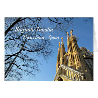 Sagrada Familia, Barcelona, Spain Card