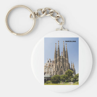 Sagrada Familia Barcelona Spain Keychain