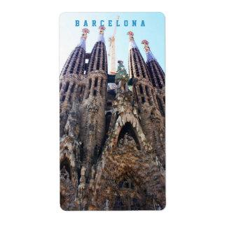 Sagrada Familia church Shipping Label