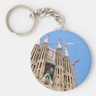 Sagrada Familia in Barcelona, Spain Basic Round Button Keychain