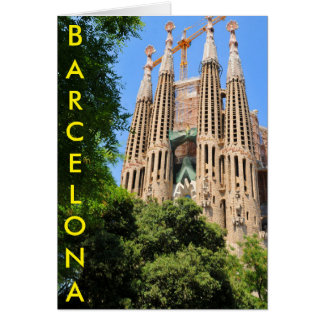 Sagrada Familia in Barcelona, Spain Card