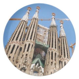 Sagrada Familia in Barcelona, Spain Dinner Plate