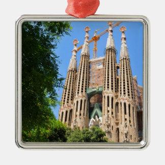 Sagrada Familia in Barcelona, Spain Metal Ornament