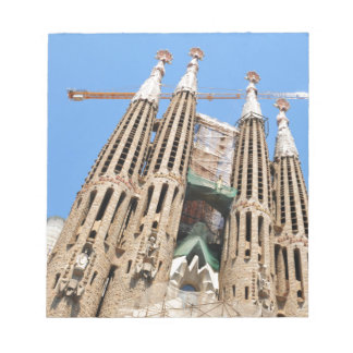 Sagrada Familia in Barcelona, Spain Notepad