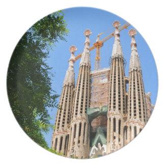 Sagrada Familia in Barcelona, Spain Party Plate