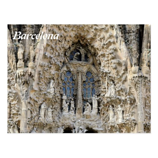 Sagrada Familia. Nativity facade. Postcard