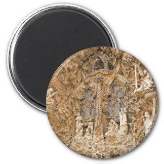 Sagrada Familia Sculptures 2 Inch Round Magnet