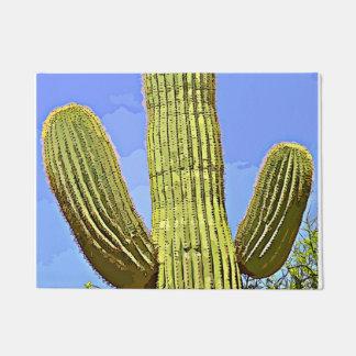 Saguaro Arms in Cartoon Door Mat
