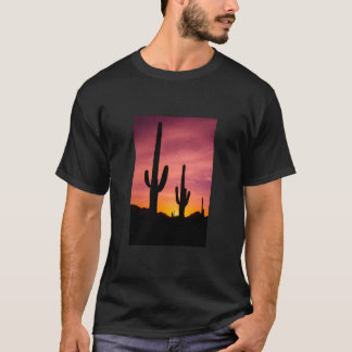Saguaro cactus at sunrise, Arizona T-Shirt