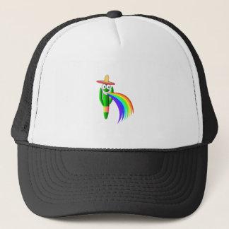 Saguaro Cactus Barfing A Rainbow Trucker Hat