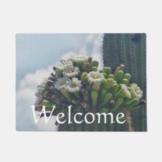 Saguaro cactus blooms doormat