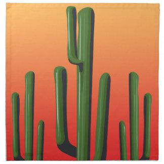 Saguaro Cactus Desert Sunset Napkin
