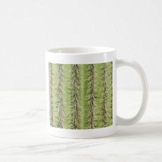 Saguaro cactus needles print basic white mug