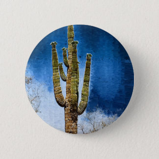 Saguaro Cactus painting 2 Inch Round Button