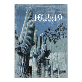 Saguaro Cactus Palm Trees Arizona Wedding Invites