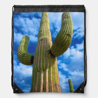 Saguaro cactus portrait, Arizona Drawstring Bag
