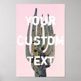 Saguaro Cutout - Customizable Text | Poster