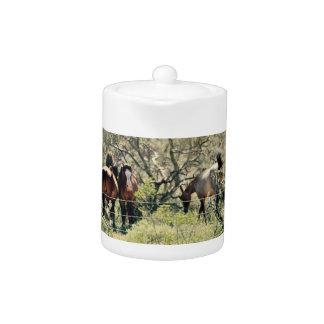 Saguaro Lake Mustangs Tea Pot