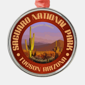 Saguaro National Park (C) Silver-Colored Round Ornament