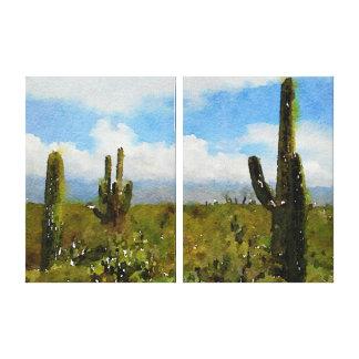 Saguaro National Park East - Watercolor Canvas Print