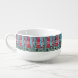 Saguaro Pillar in Red Sky & Turquoise Soup Mug